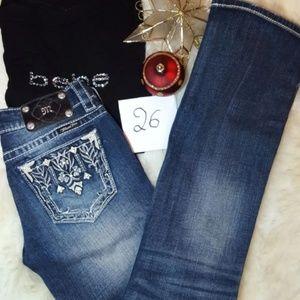 Miss Me Jeans size 26x31 boot cut